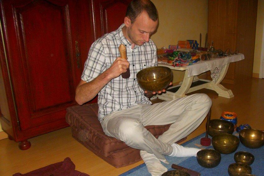 Atelier bol tibétain Damien Louvard