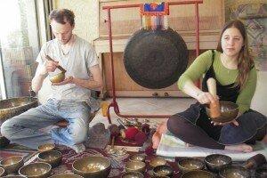 Atelier bols tibetains Louvard Cervantes Belunga